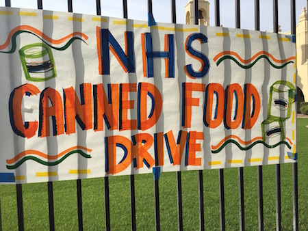 NHS canned food drive: a season of giving