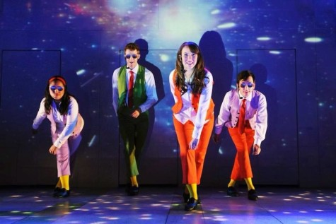 Molly Robinson '04, second from the right, performs in Childsplay's tour of