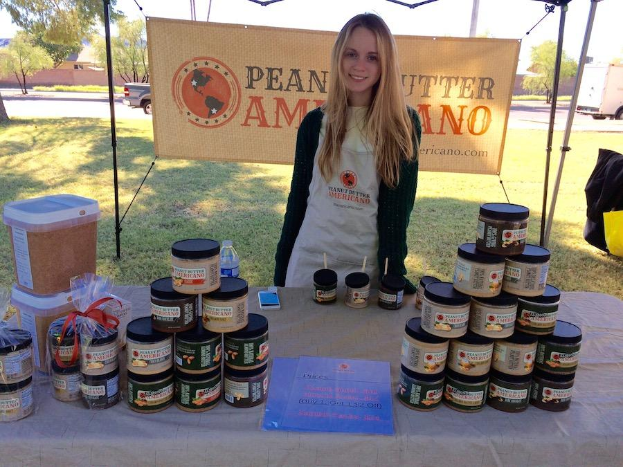 Kara Barberich works at PB Americano, which sells at various farmers markets around the Valley.