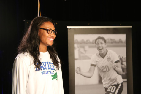 Khalia Lanier receives the most prestigious high school athletic award in the nation.