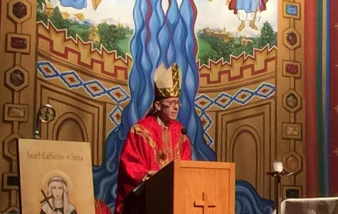 Bishop Olmsted celebrates Mass (and a birthday) at Xavier