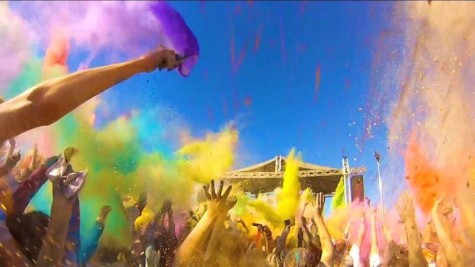 After running 3.1 miles, participants celebrate in color.