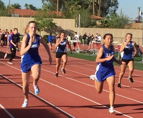The Xavier track and field team competes in their first meet of the season.
