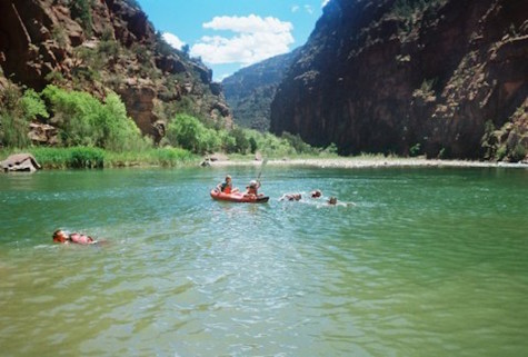 The Colorado River is one of the most famous rivers for whitewater rafting.
