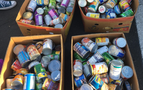 The close of the famous canned food drive