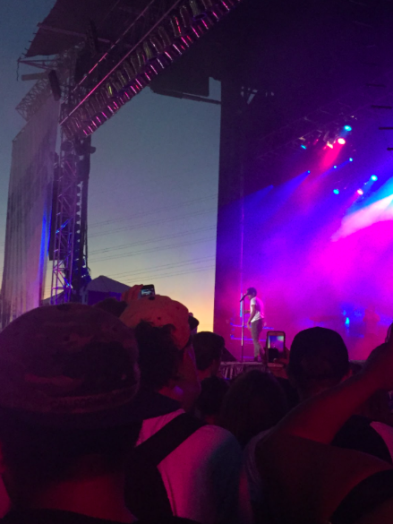 Mass crowds at a Chance The Rapper concert