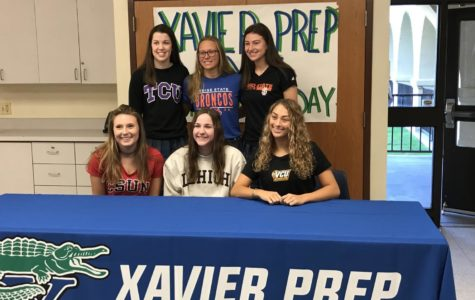 Xavier students sign National Letters of Intent