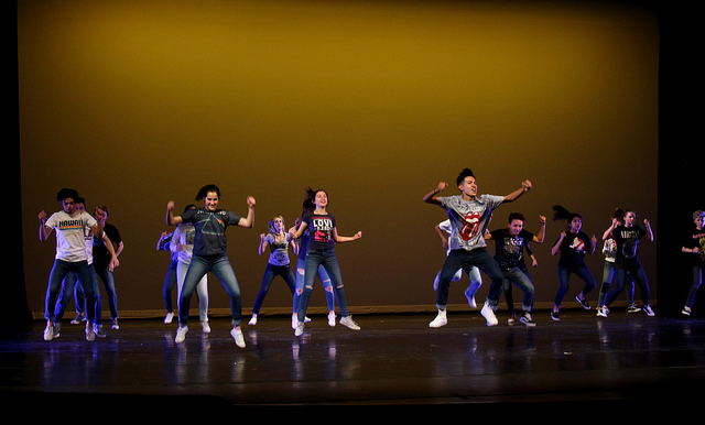 Xavier dance students participate in the annual fall dance show on Nov. 16, 2017.