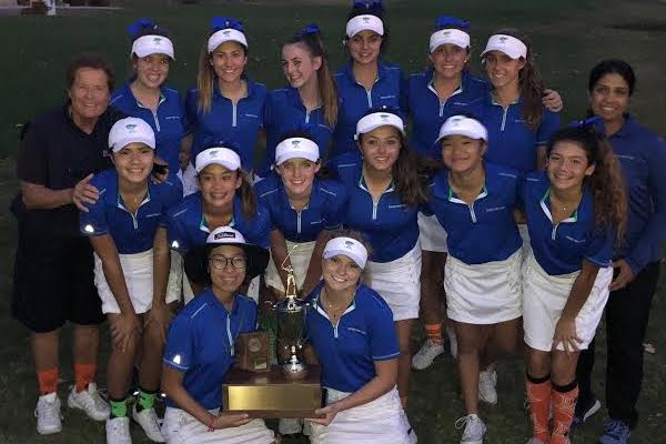 Gator golf with their 35th state championship trophy