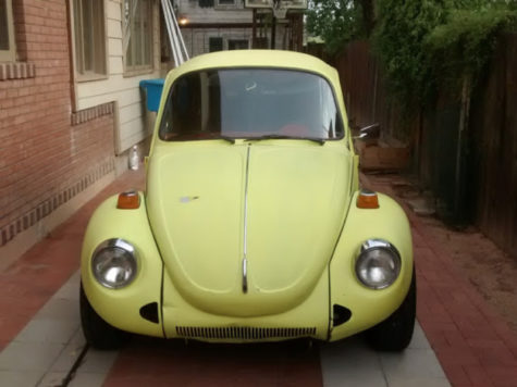 Claire Nelson, sophomore, restores a 1974 Super Beetle with her family