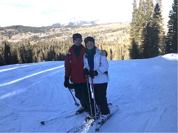 Junior Marybeth Bonner and her dad enjoy each other's company while hitting the slopes.