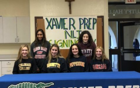 Xavier athletes going on to play collegiate sports