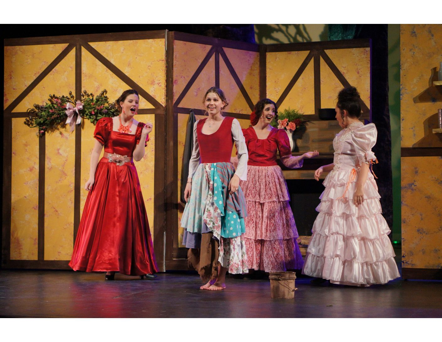 Ladies of Into The Woods share the stage