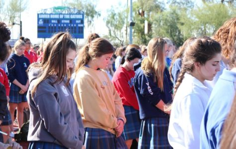 Xavier students, faculty hold prayer service, commemorate anniversary of Parkland shooting
