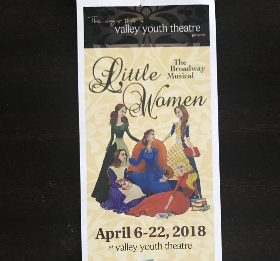 The+playbill+for+%22Little+Women%22+at+Valley+Youth+Theatre.