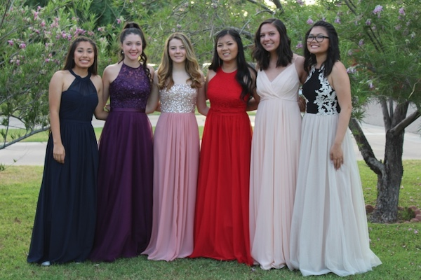 Senior Sydney Missigman, the editor-in-chief and her friends at prom in 2017.