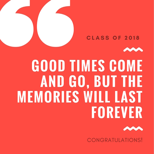 Teachers' messages to the class of 2018