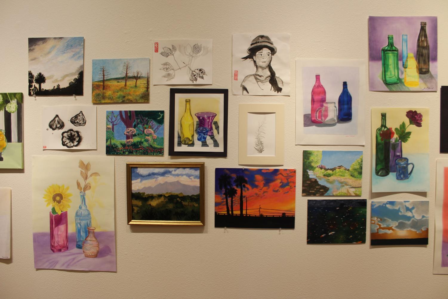 The Art Feast included a multitude of studio art, including these paintings