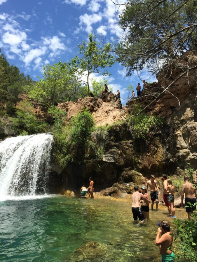 Friends swimming at Fossil Creek