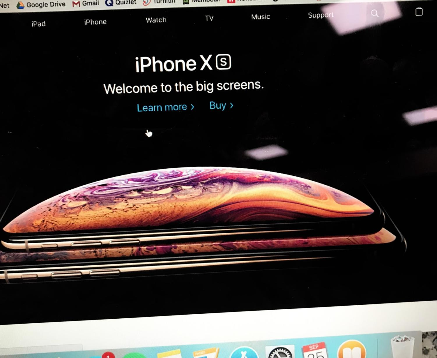 The Apple website's advertisement for the new iPhone