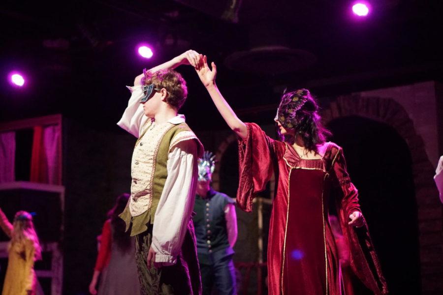 Harrison Cohen 20 and Bebe Katsenes 19 dance as the roles of Paris and Juliet.