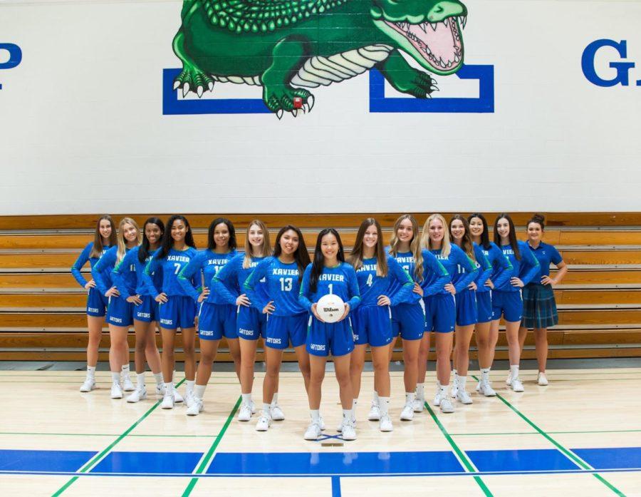 The+Xavier+varsity+volleyball+team+2018.%0APhoto+Courtesy+of+Kristin+Hayward+%26+Robertson+Family.