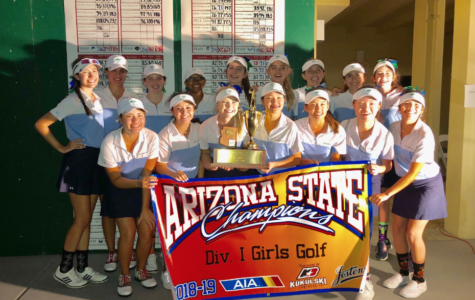 Pictured is Xavier's golf team winning the Division 1 Girls Golf Championships. Congrats to the golf program on their 36th state title! Photo courtesy of Eve Worden '19.