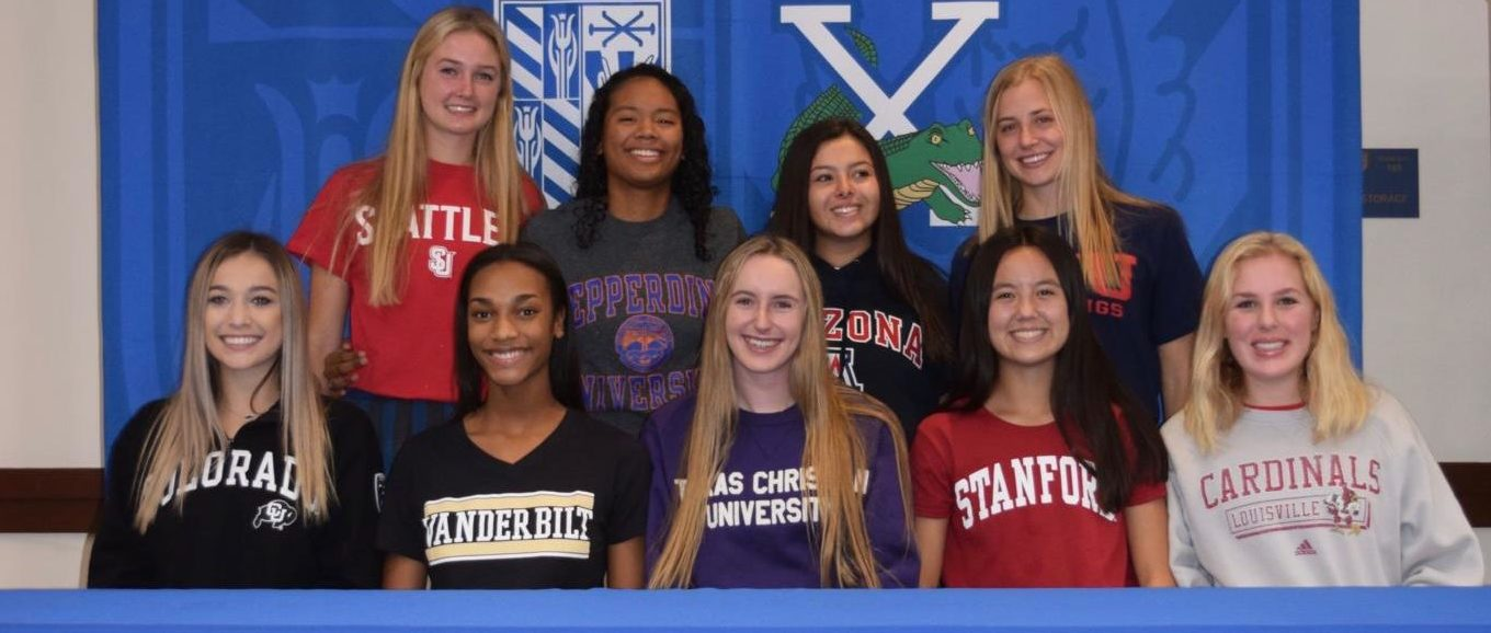 Top row (left to right): Lindsay Hubbard, Leilani McIntosh, Emily Conns, Sadie Wintergalen Bottom row (left to right): Kyla Ferry, Jada Sims, Trinity Cavanaugh, Emily Chiao, Shannon Shields. Photo courtesy of Sr. Cathleen.
