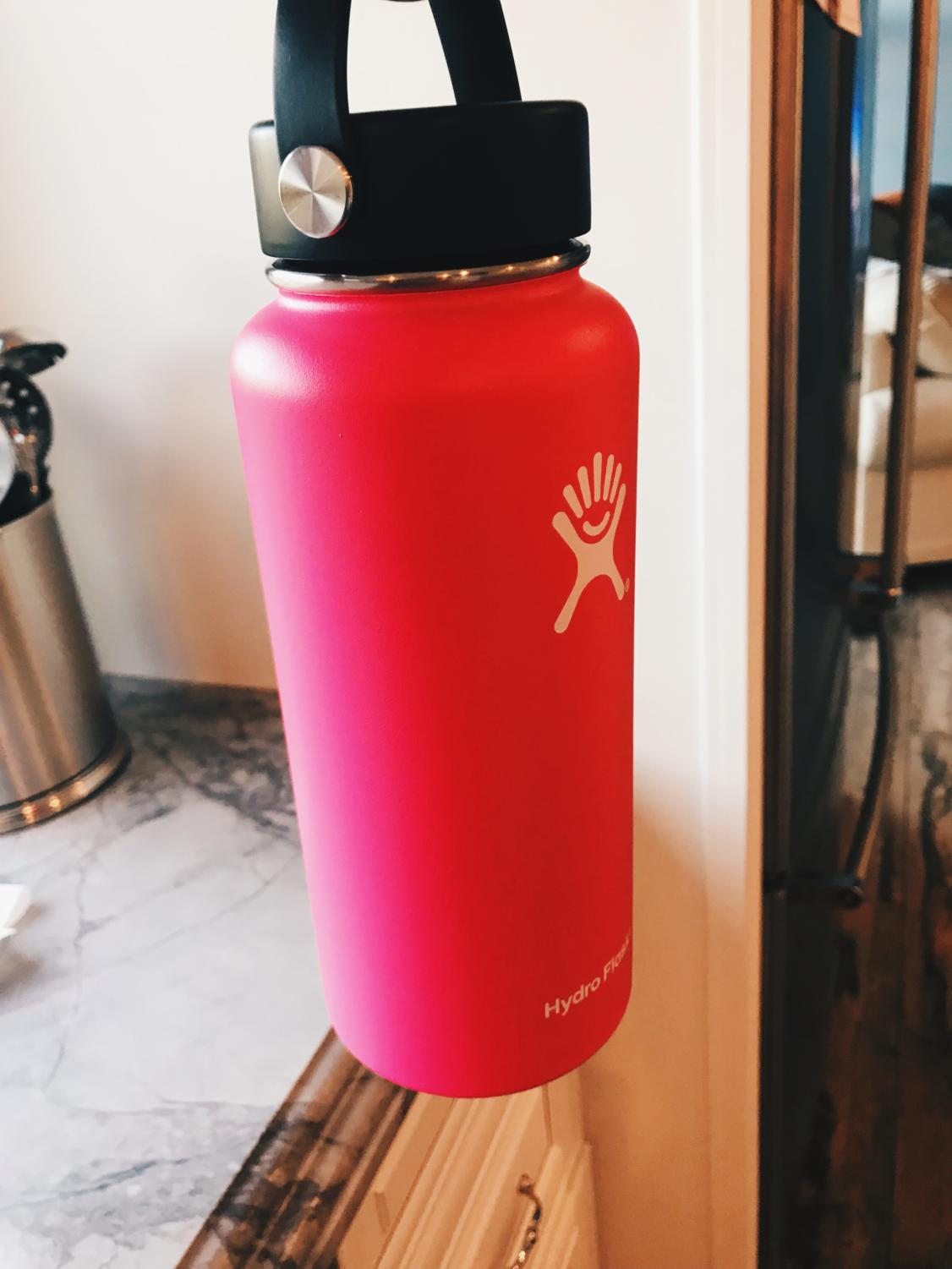 A Hyrdroflask water bottle
