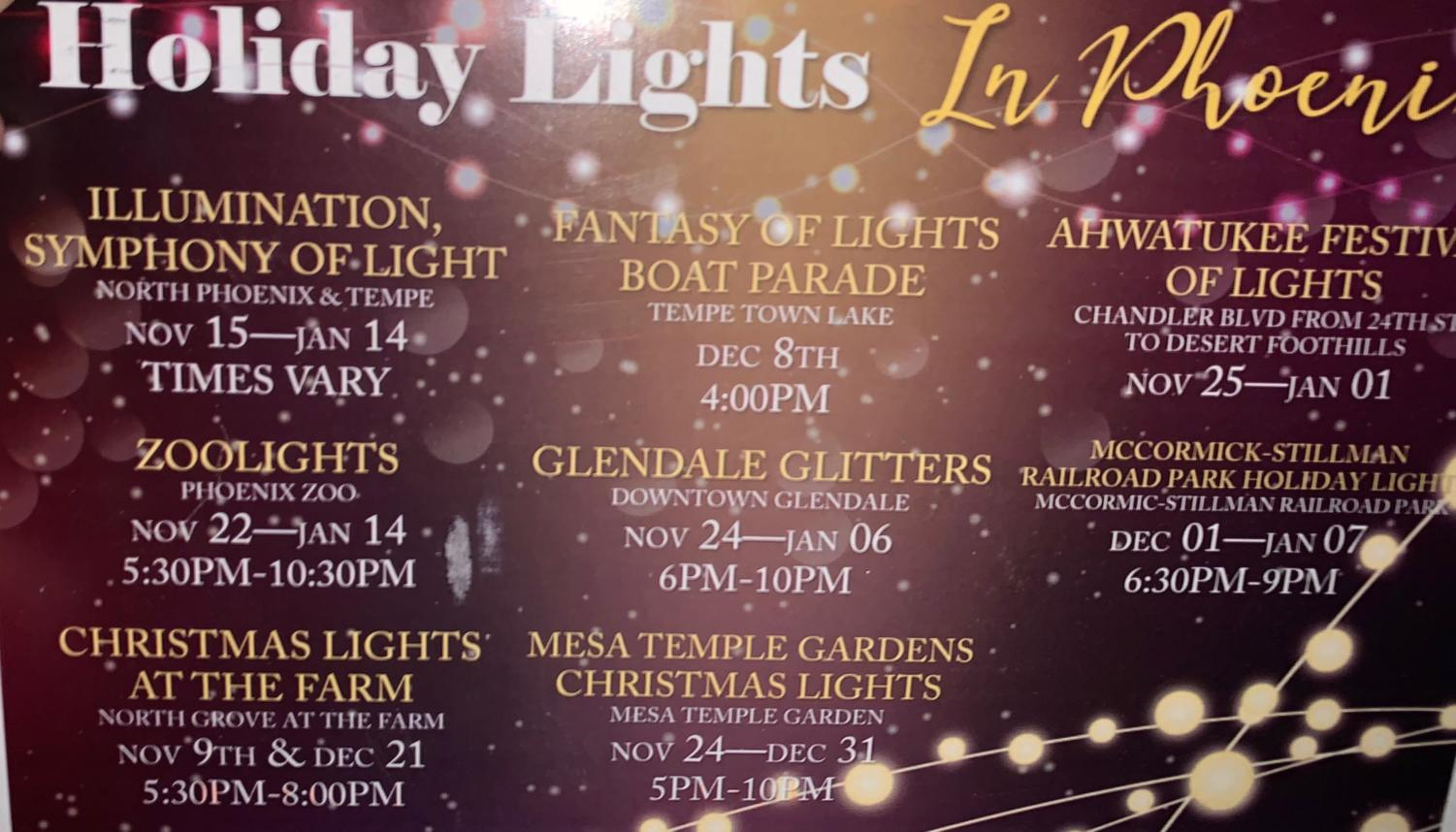 Phoenix offers a plethora of light shows during the holiday season.