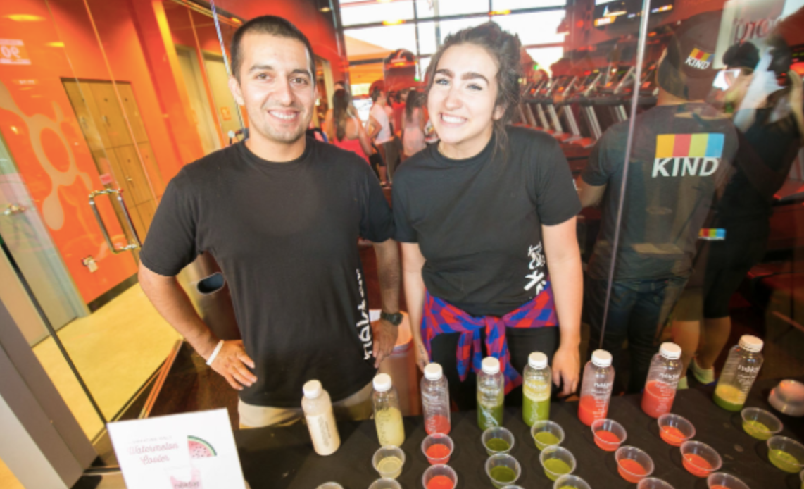 Sophomore Emmie Halter attends Orangetheory regularly and aside from fitness classes, Orangetheory offers special things, like juice cleanse trials. Emmie tried some juices from Nekter after her most recent class.