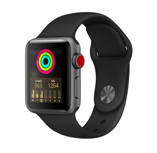 Pictured is the Apple Watch Series 3. The Apple Watch Series 3 showcases the qualities implemented in the watch that monitor daily physical activity and its many qualities. Photo Courtesy of apple.com.