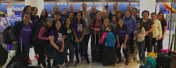 A photo of the students and faculty as they prepare to embark to Panama. Photo courtesy of Mrs. Wyman.