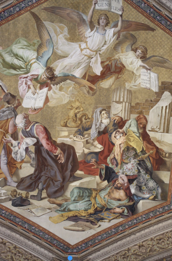 A+mural+of+the+Disciples+greeting+an+angel+who+is+delivering+good+news.+Photo+taken+by+Sienna+Martinez+%E2%80%9821