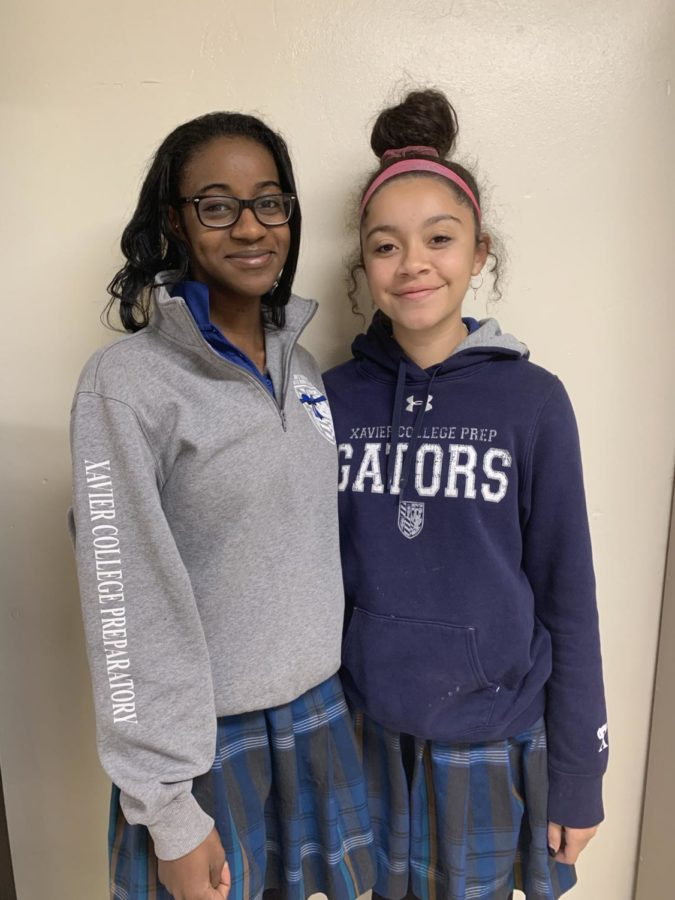 Members of the Black Student Union at Xavier include seniors Caitlin Johnston and Paris Rasheed-Moore