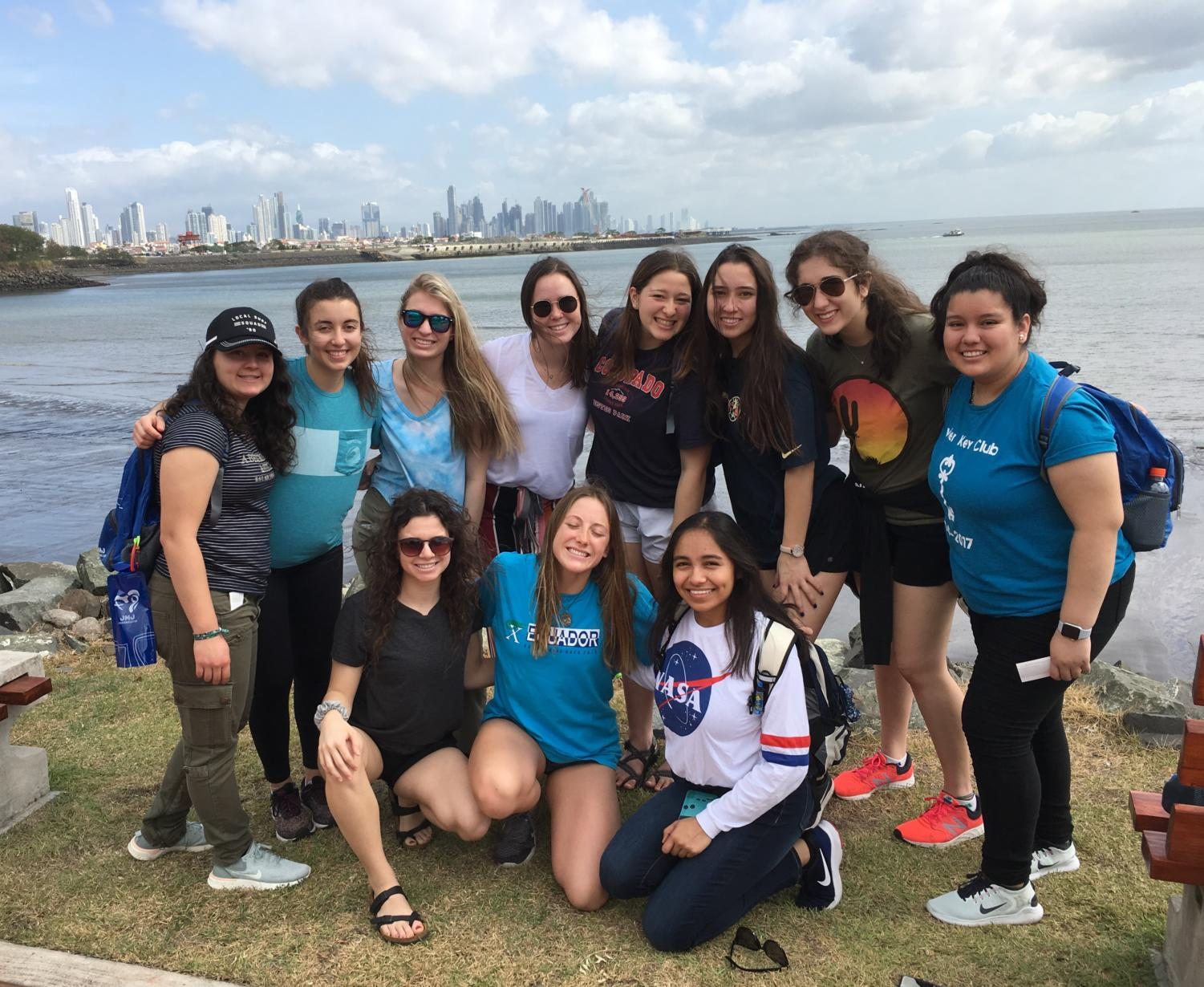 Xavier students in Panama during World Youth Day 2019. Photo courtesy of Bruce Wyman, Xavier Honors Physics teacher.