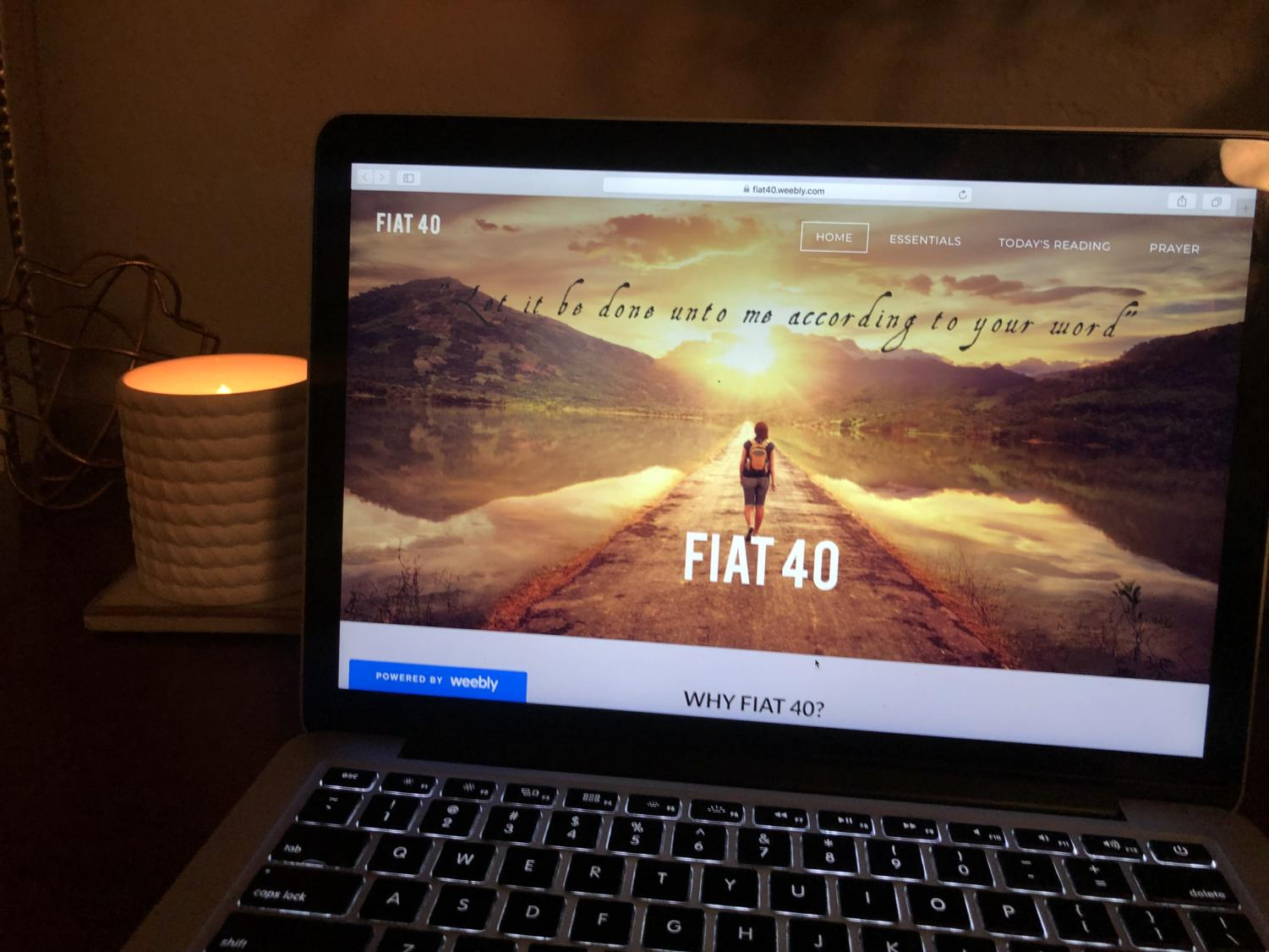 The Fiat 40 website guides its participants throughout their Lenten journey. Photo courtesy of Lauren Brown '19.