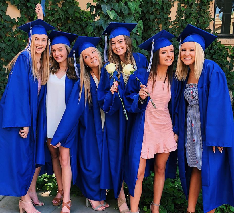 Emily+Hink+and+friends+at+Xavier+graduation%2C+2018.