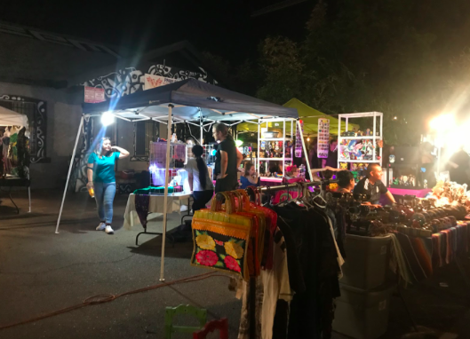 Urban vendors at the September First Friday event - Courtesy of Sattu Samura 21'