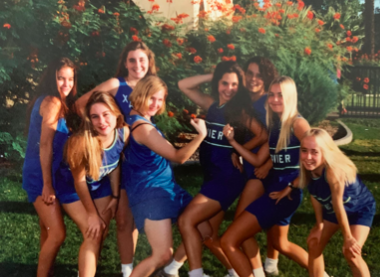 Mrs. Becker on the Xavier track team. Photo credit to Mrs. Becker (Mrs. Becker in the far back right).