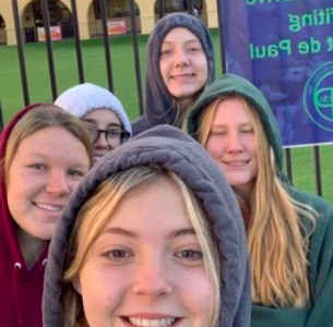 NHS members volunteer in the morning on Thursday, November 5th, 2019 for the Can Food Drive at Xavier College Preparatory in Bidwells Circle. Photo Credit: Brianna Butkiewicz '20