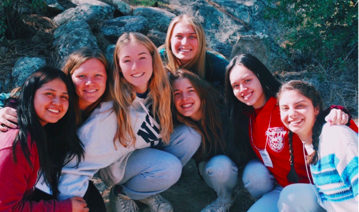 A+group+of+girls+that+attended+Xavier+College+Prep%E2%80%99s+Fall+Kairos+Retreat+in+October%2C+2019.+While+up+at+the+UCYC+for+this+retreat%2C+they+took+part+in+a+spiritual+and+life-changing+experience%21+%0APhoto+Credit%3A++Elizabeth+Warren+%E2%80%9820.