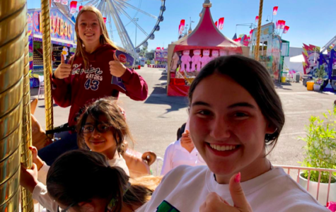 Emmie Paulson '21 and Kendall Warner '21 attending Kids Day at the Arizona State Fair, located in Phoenix, Arizona. Photo Credit: Camy Rael '20