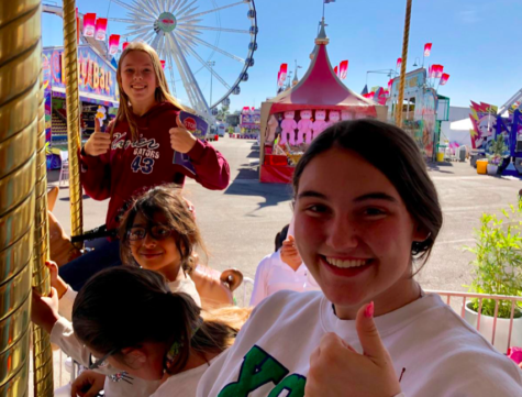 Emmie Paulson '21 and Kendall Warner '21 attending Kids Day at the Arizona State Fair, located in Phoenix, Arizona. Photo Credit: Camy Rael