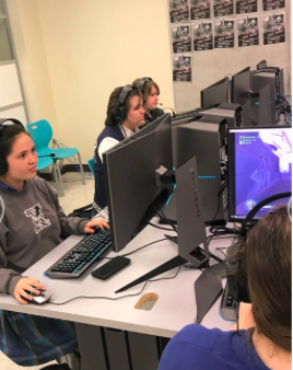 Esports hard at work practicing their game tactics!  Photo Credit: Esports XCP webpage