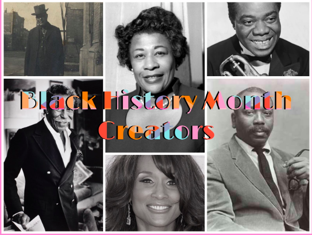 A+collage+of+famous+historical+African+American+creators+listed+below+in+the+article%2C+from+top+left+to+top+right+%28William+D.+Foster%2C+Ella+Fitzgerald.+Louis+Armstrong%29.+From+bottom+left+to+bottom+right+%28Gordon+Parks%2C+Beverly+Johnson%2C+Jacob+Lawrence%29+-+Courtesy+of+Sattu+Samura+%E2%80%9821%0A