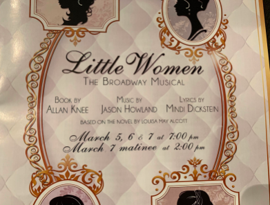 Front cover for the playbill for Little Women. Photo credit to Zoelyn Milloy '21