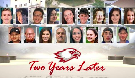 A poster made in remembrance of the 17 victims from the Stoneman Douglas Highschool shooting. Photo Credit: Local10News