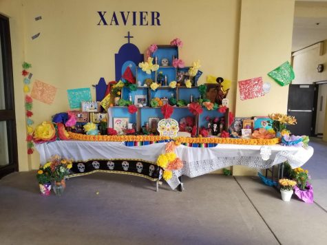 Students at Xavier made several ofrendas to celebrate their deceased family members and/or idols.