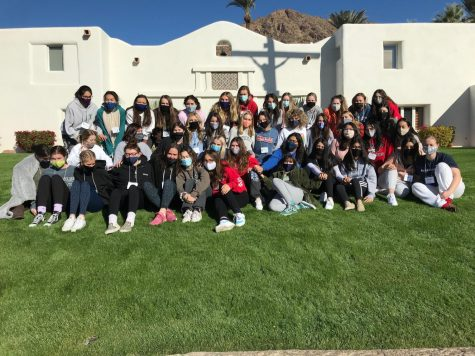 The attendees of Kairos 4 celebrate the last day of their retreat at Mount Claret